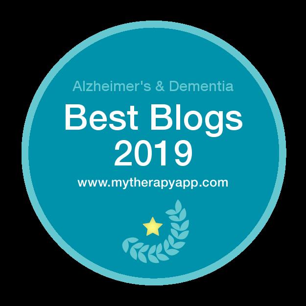 MyTherapy -Top 10 Alzheimer's & Dementia Blog Badge 2019